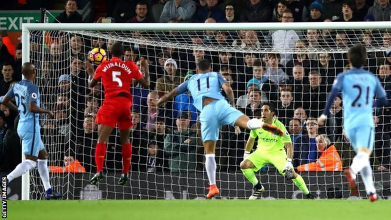 Liverpool beat Man City to remain second on the table