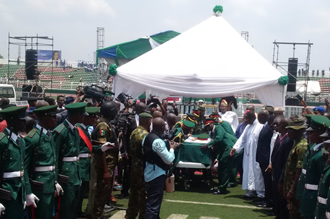 Tears, encomiums as Ogbemudia is interred