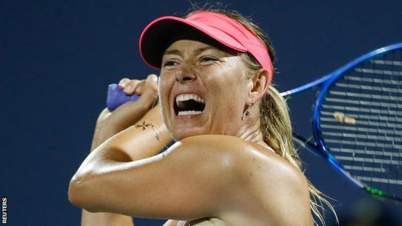 Victorious return to U.S.  for Sharapova at Stanford after thigh injury