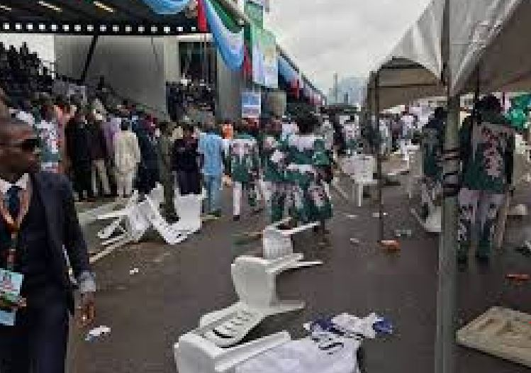 BREAKING: Panic as delegates clash at APC National Convention [Photos]