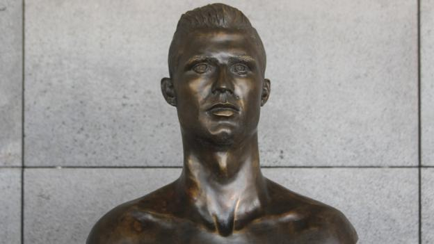 Cristiano Ronaldo's bust at Madeira airport has been quietly replaced