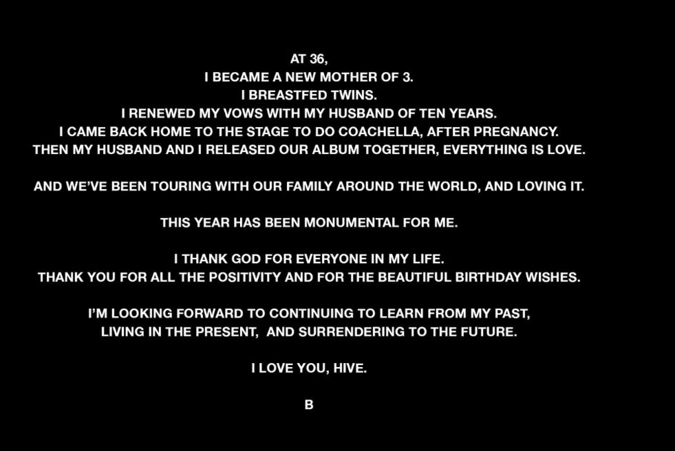 This Year Has Been Monumental For Me Beyonce Declares Thenewsguru