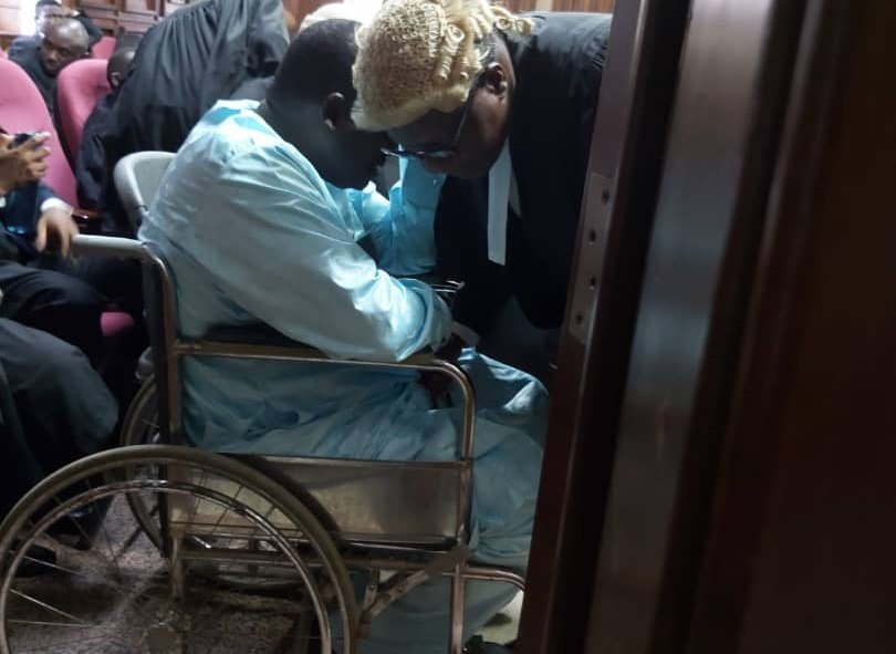 JUST IN: Maina appears in court in wheel chair for bail application